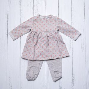 Polka Dot Sparkle Footed Outfit